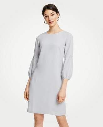 Ann Taylor Petite Lantern Sleeve Shift Dress