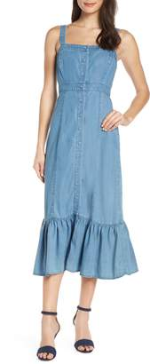 BB Dakota Babe Next Door Denim Midi Dress