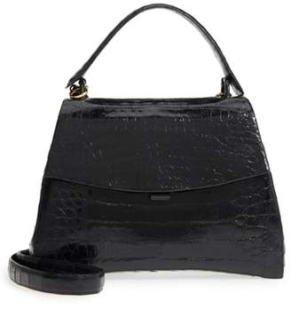 Nancy Gonzalez Genuine Crocodile Top Handle Bag