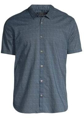 John Varvatos Faded Print Cotton Button-Down Shirt