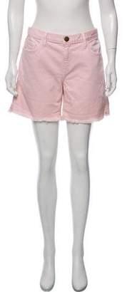 Current/Elliott Mid-Rise Distressed Denim Shorts