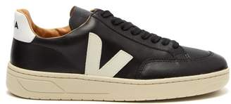 Veja V 12 Pierre Leather Trainers - Womens - Black