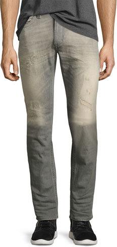 DieselDiesel Thavar 084DV Distressed Skinny Jeans, Gray