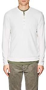 Massimo Alba Men's Cotton-Cashmere Jersey Henley-White