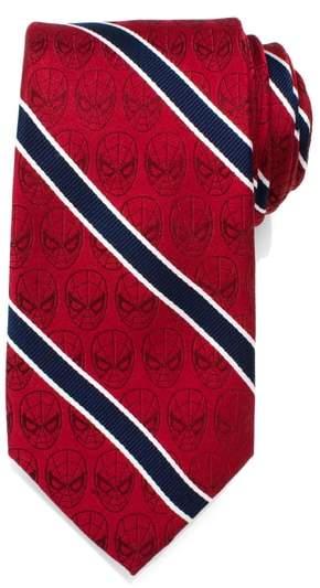 Cufflinks, Inc. Spiderman Stripe Silk Tie