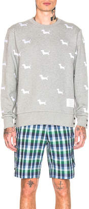 Thom Browne Hector Embroidered Crewneck Pullover