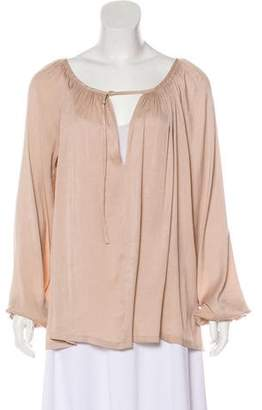 A.L.C. 2012 Pleated-Accented Blouse