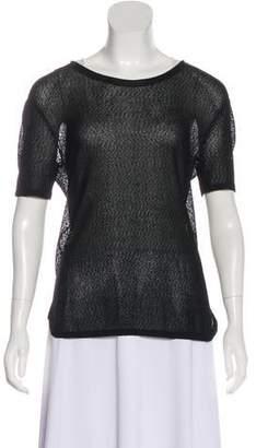 Rag & Bone Short Sleeve Sheer T-Shirt