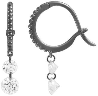 Raphaele Canot Set Free Double Diamond Beaded Mini Hoop Earrings - Black Gold