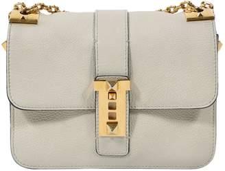 Valentino B-rockstud Ecru Leather Handbag