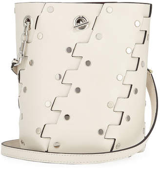 Proenza Schouler Mini Hex Studded Leather Bucket Bag