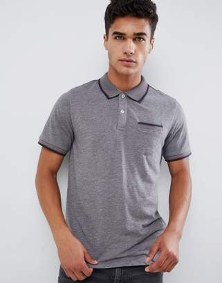 Jack and Jones pocket polo with collar taping