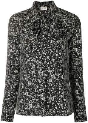 Saint Laurent polka dot blouse
