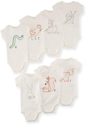 Stella McCartney Sammie Day of the Week Bodysuit Boxed Set, Size Newborn-12 Months