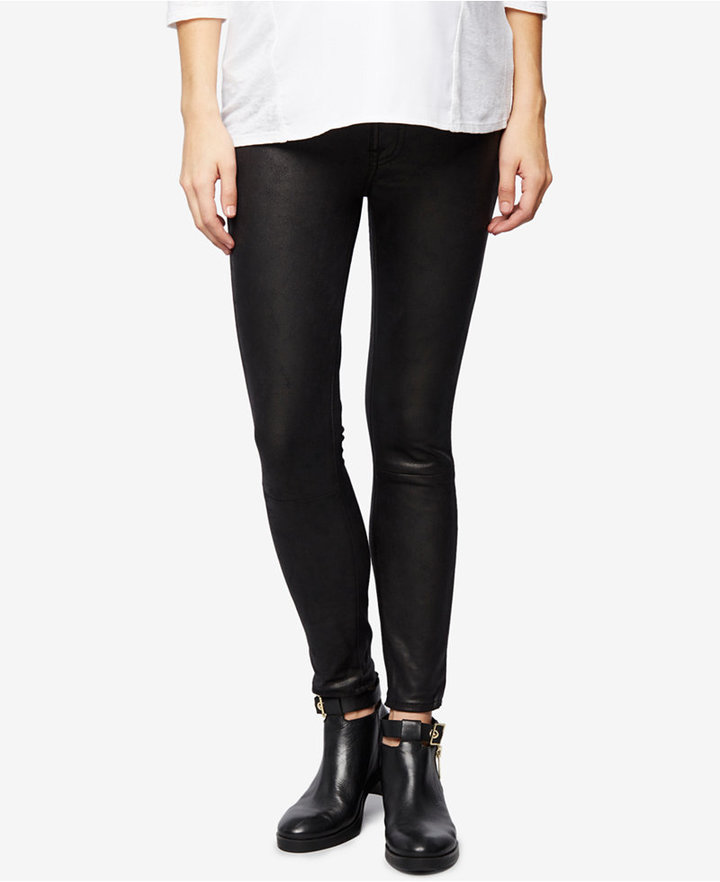 7 For All Mankind7 For All Mankind Maternity Faux-Leather Skinny Jeans
