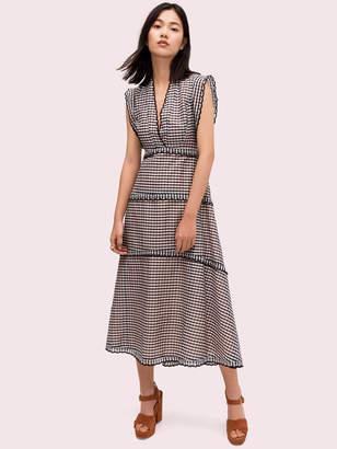 Kate Spade gingham midi dress