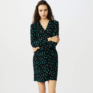 Maje Printed V collar dress
