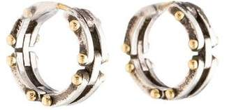 Tiffany & Co. Two-Tone Gate Link Hoop Earrings