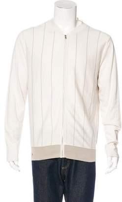 Hermes Striped Zip Sweater