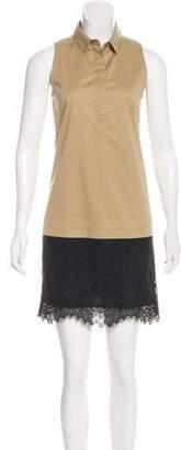 Comptoir des Cotonniers Sleeveless Lace-Trimmed Dress