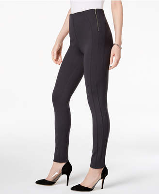Style&Co. Style & Co Zip-Detail Ponte-Knit Leggings, Created for Macy's