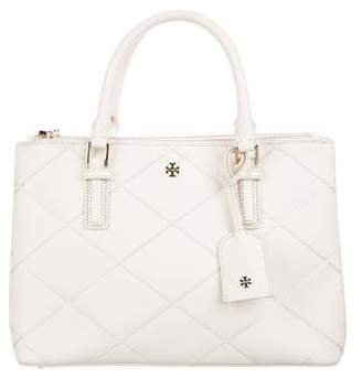 Tory Burch Robinson Stitched Mini Double Zip Tote