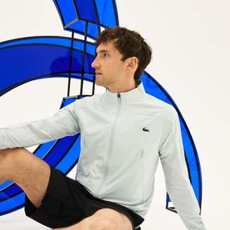 Lacoste Men's SPORT Stand-Up Collar Taffeta Jacket - x Novak Djokovic Support With Style - Off Court Collection