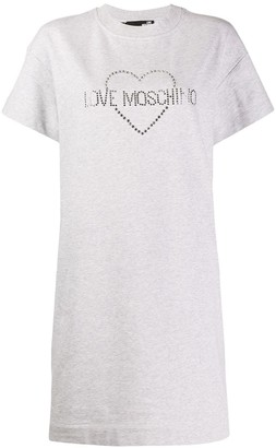 Love Moschino studded logo T-shirt dress
