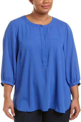 NYDJ Plus Pleated Back Top