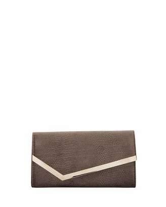 Jimmy Choo Emmie Lizard-Velvet Clutch Bag