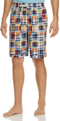 Psycho Bunny Plaid Drawstring Lounge Shorts $34 thestylecure.com