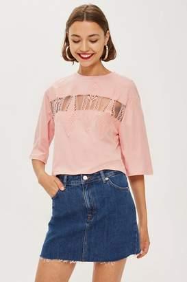 Topshop Boxy Eyelash T-Shirt