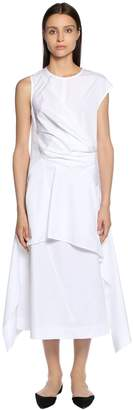 Sportmax Cotton Poplin Midi Dress