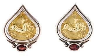 Seidengang Garnet Horse Earclip Earrings