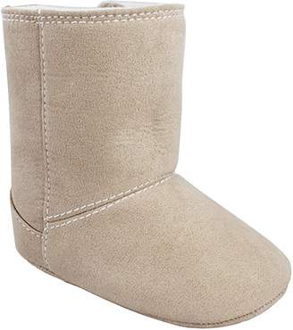 Baby Girl Wee Kids Faux-Suede Boot Crib Shoes