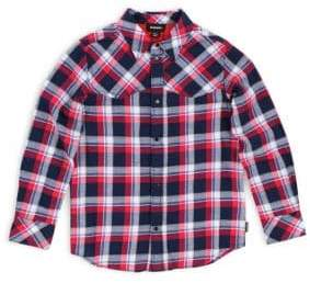 Diesel Baby Girl's Plaid Long-Sleeve Shirt
