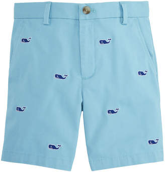 Vineyard Vines Boys Whale Embroidered Breaker Shorts