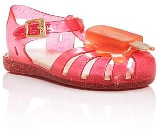 Mini Melissa Girls' Glitter Popsicle Sandals - Walker, Toddler