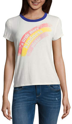 Arizona Short Sleeve Crew Neck T-Shirt-Womens Juniors