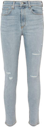 Rag & Bone High-Rise Blue Skinny Jeans