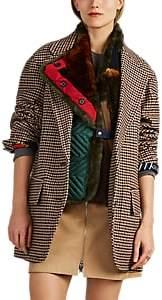 Kolor Women's Faux-Fur-Detailed Wool-Blend Oversized Jacket - Beige, Khaki