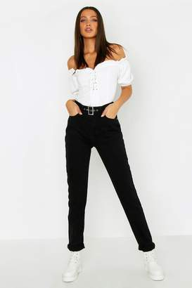 boohoo Tall Buckle Detail Skinny Jeans