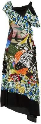 Mary Katrantzou Carmen Embellished Silk Dress