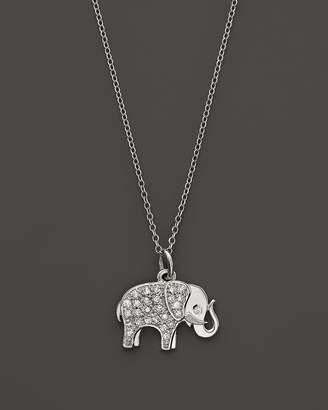 KC Designs Diamond Elephant Pendant in 14K White Gold, 16