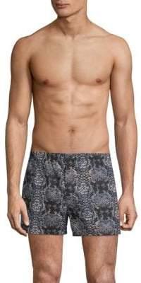 Marc by Marc Jacobs Rex Snakeskin-Print Cotton Boxer Shorts
