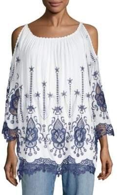 Le Marais Embroidered Lace Blouse