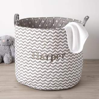 4dfca61a13ea My 1st Years Personalised Large Grey Chevron Storage Bag
