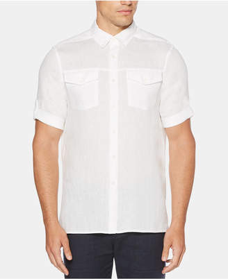 Perry Ellis Men Slim-Fit Linen Shirt