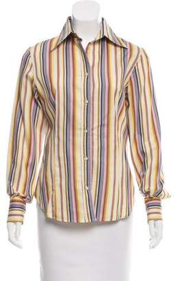 Etro Stripe Button-Up Top