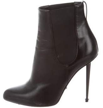 Tom Ford Leather Pointed-Toe Ankle Boots